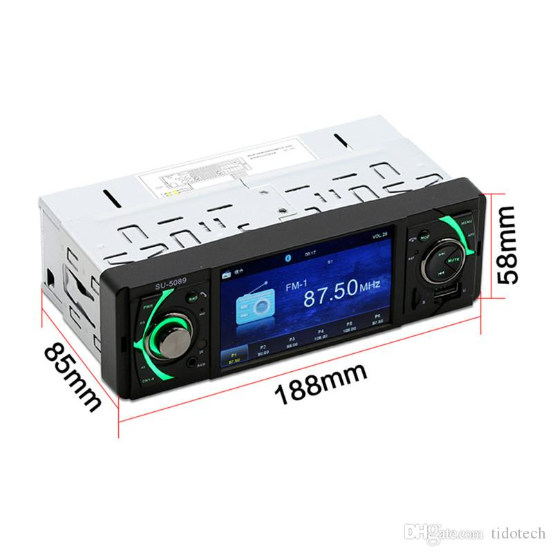 Multi Function 4 Inch HD Screen Bluetooth-Enabled Car MP5 Player FM Radio Reverse Image DVD Audio & Video