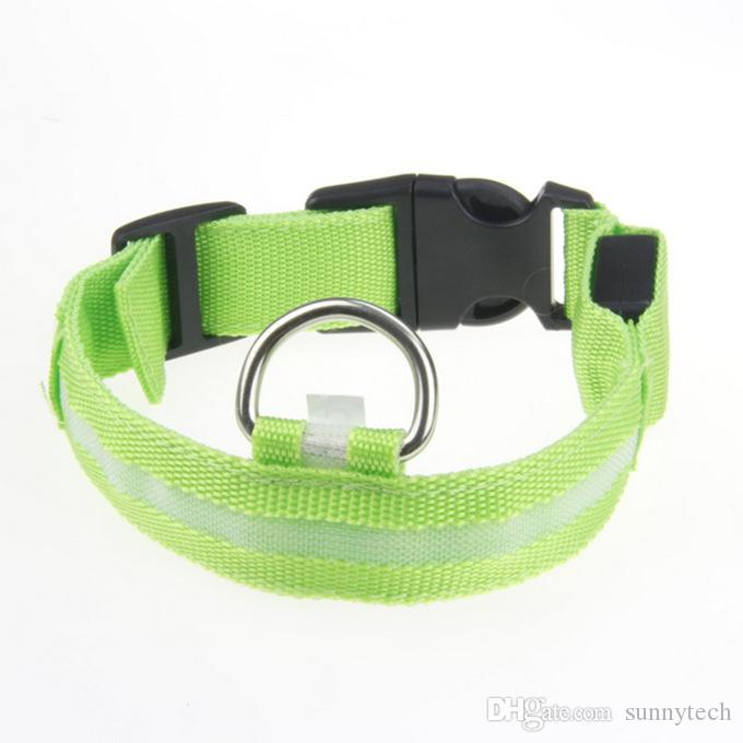 LED Nylon Haustier Hundehalsband Nacht Sicherheit LED Licht im Dunkeln leuchten Hundehalsband blinken Sicherheit Halsband WA2563