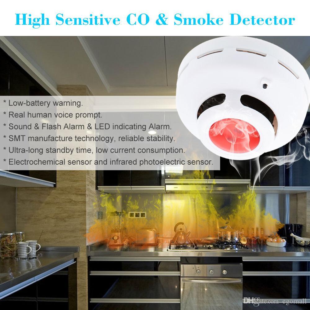 الرئيسية الأمن مستقر مزيج مستقل أول أكسيد الكربون كاشف اختبار الغاز الاستشعار إنذار عالية الحساسية CO كاشف الدخان