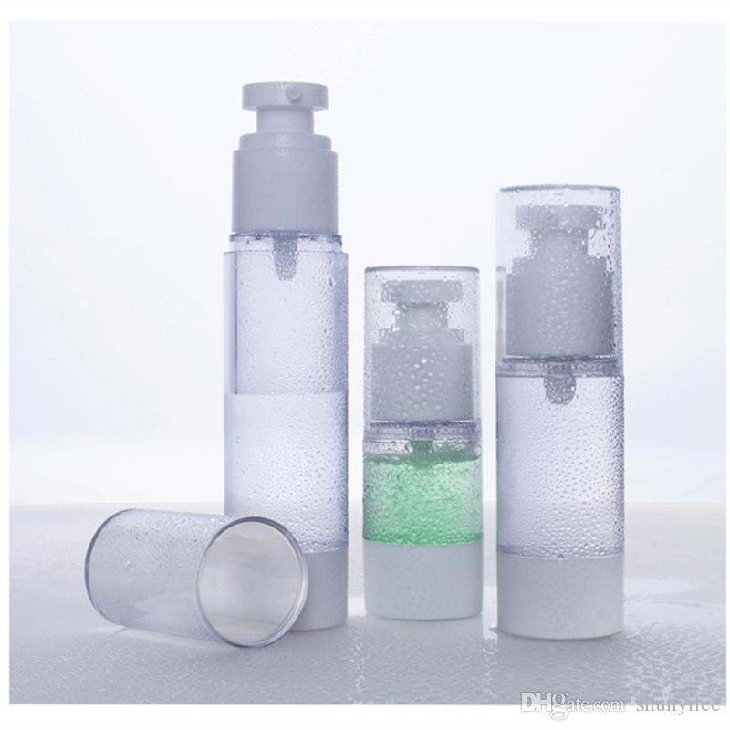 15ml 30ml 50ml Airless Bottle Cosmetic Package Emulsion Bottles Cosmetic Container Pump Travel bottle Perfume Bottle F2017167
