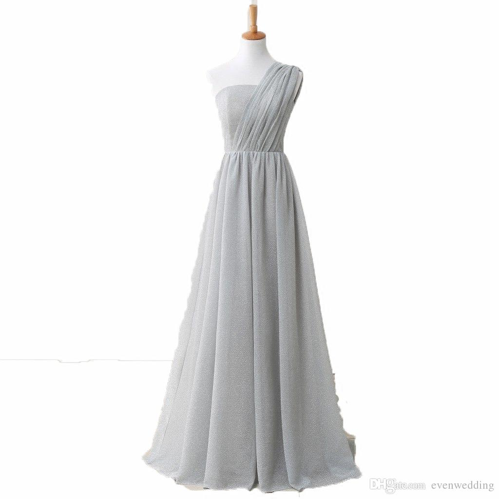 One shoulder long bridesmaid dress lace up 2018 elegant long women one shoulder long bridesmaid dress lace up 2018 elegant long women party dress light gray custom made long dresses for wedding modern bridesmaid dresses ombrellifo Gallery