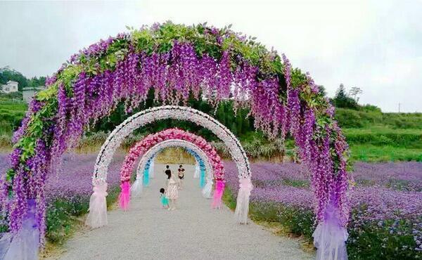 72cm 110cm Artificielle lierre Fleurs Soie Fleur Wisteria Fleur De Vigne Rotin pour le Mariage Décorations Centres Bouquet Guirlande Maison Ornement