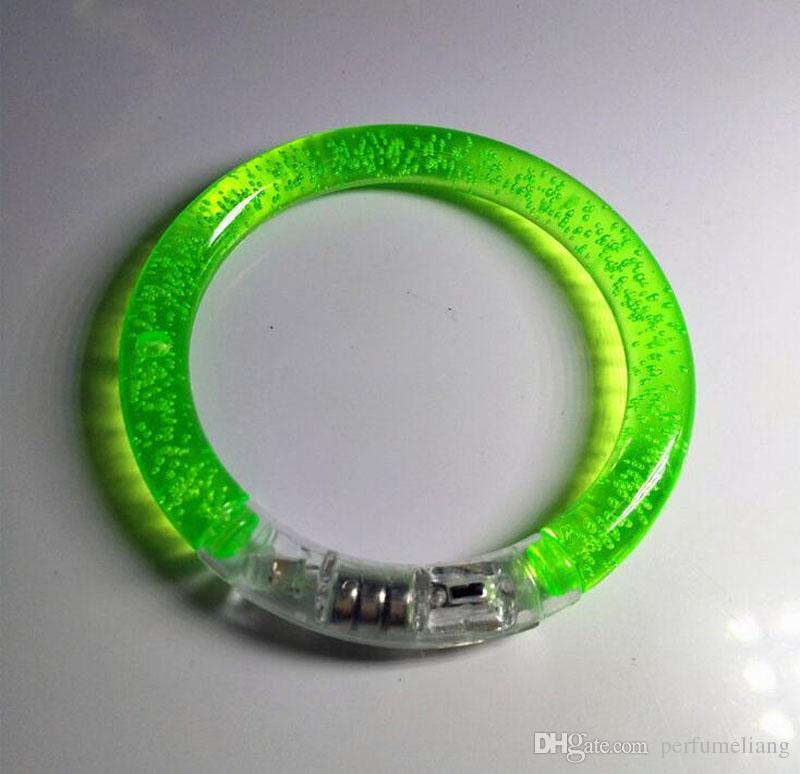 Renkli Değişen LED Bilezik Işık Up Yanıp Sönen Akrilik Parlayan Bilezik Çocuk Oyuncakları Noel Partisi Dekorasyon Malzemeleri ZA3380
