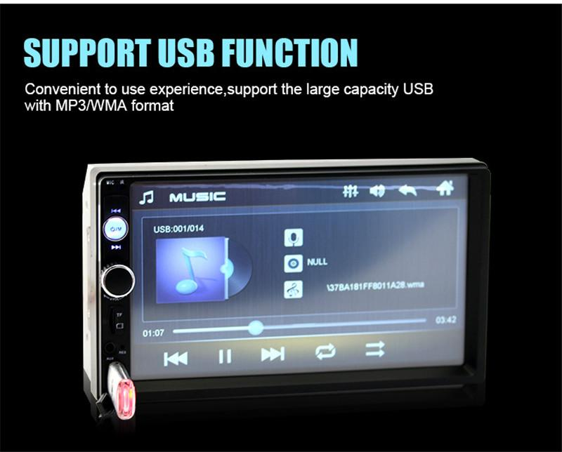 Multi function 7 Inch HD Touch Screen Bluetooth-Enabled Car MP5 Player Built-in Gps FM Radio Double Din DVD Audio & Video