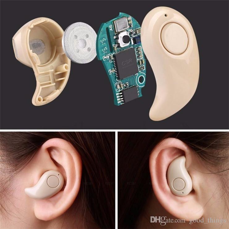 Hot Mini Bluetooth 4.0 S530 Auriculares estéreo en la oreja Auriculares Invisibles Inalámbricos Inalámbricos handfree Auriculares Música llamada de respuesta caja al por menor