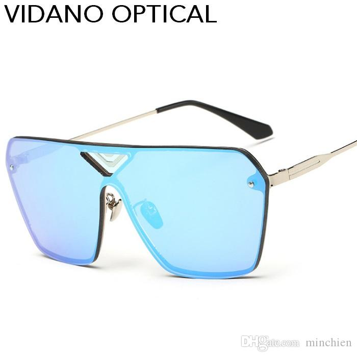 4298558a64 Vidano Optical 2017 New Arrival Big Square Sunglasses For Men   Women Flat  Top Stylish Designer Sun Glasses Retro Hot Party UV400 Eyewear Sunglases  Cheap ...