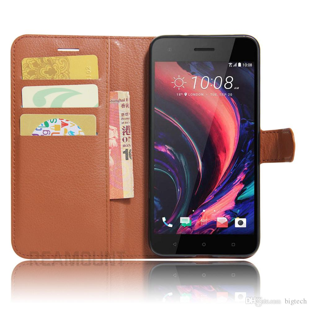 Colorful Leather Case Flip Cover for HTC ONE mini M4 for HTC ONE M7 for HTC ONE M8 with Card Slot Holder Stand Function