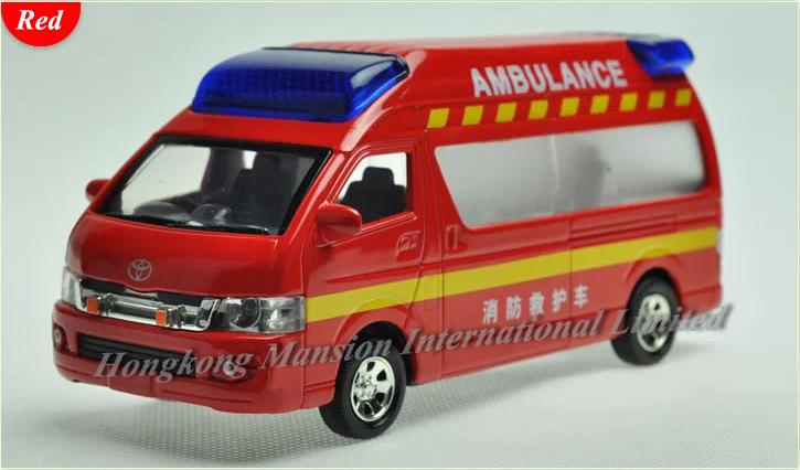 2018 1 32 Scale Diecast Alloy Fire Ambulance Car Model For Toyota
