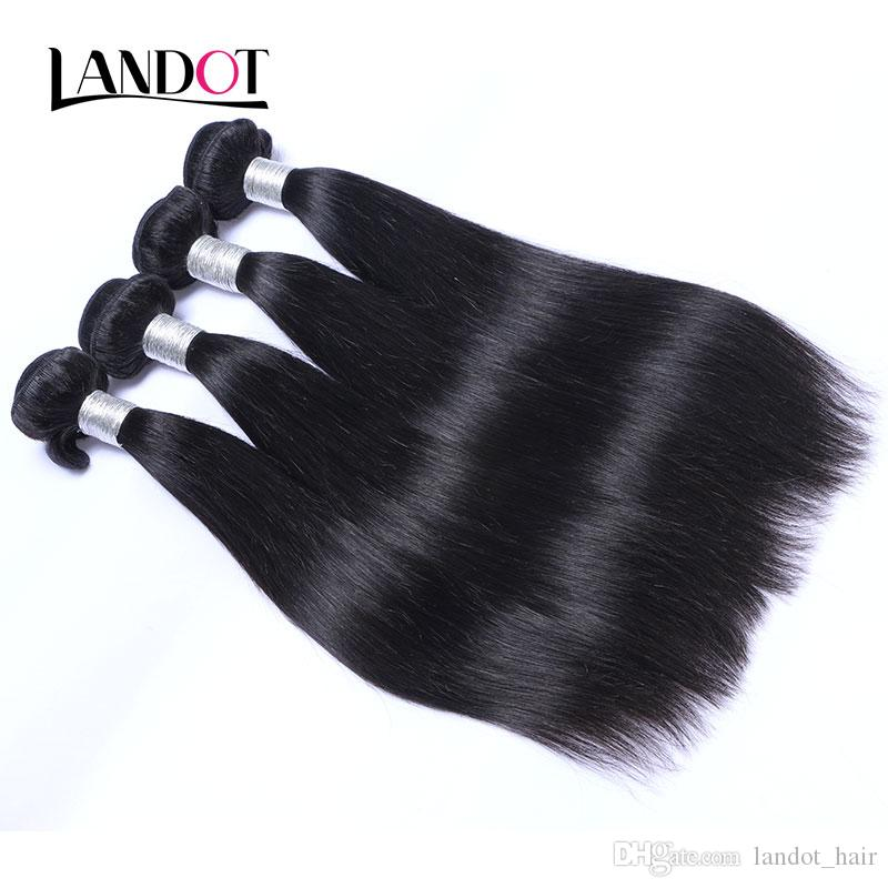 Russian Straight Virgin Hair Unprocessed Russian Human Hair Weave Bundles Natural Black Silky Straight Remy Hair Extensions Double Weft