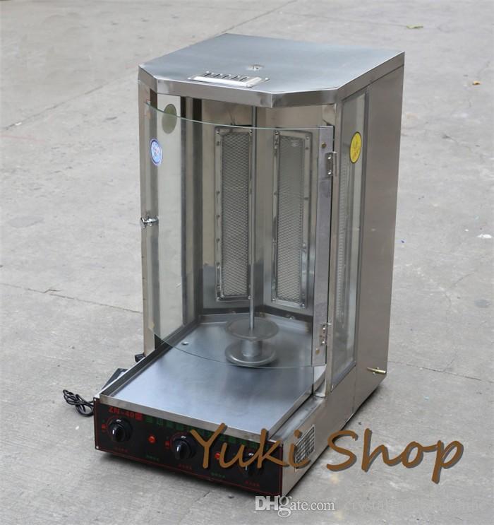 Commercial Turkey Doner Kebab Machine Gas BBQ Grill Rotary Meat Roasting Machine Stainless Steel Kebab Machine