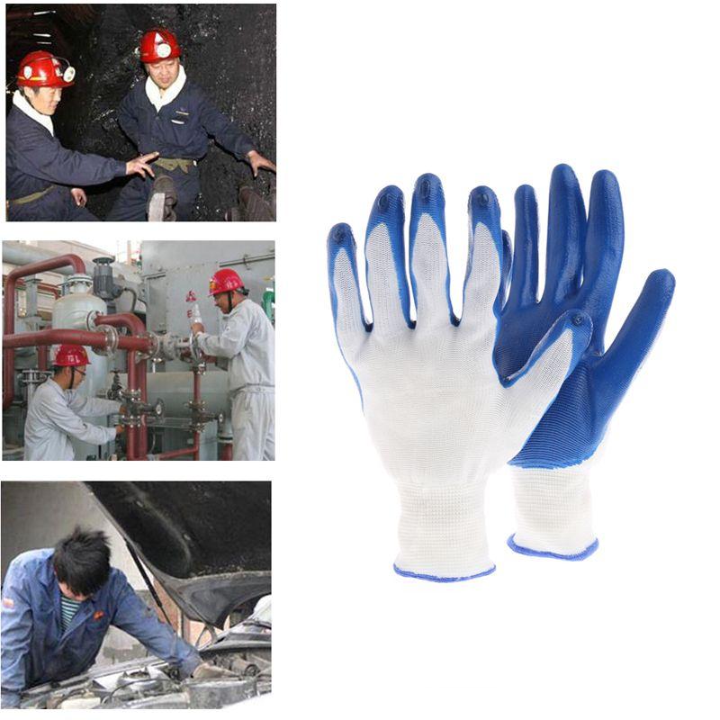 = 12 accoppiamenti domestici guanti di sicurezza di lavoro del giardino di Skid resistenti impermeabili impermeabili del lattice rivestiti
