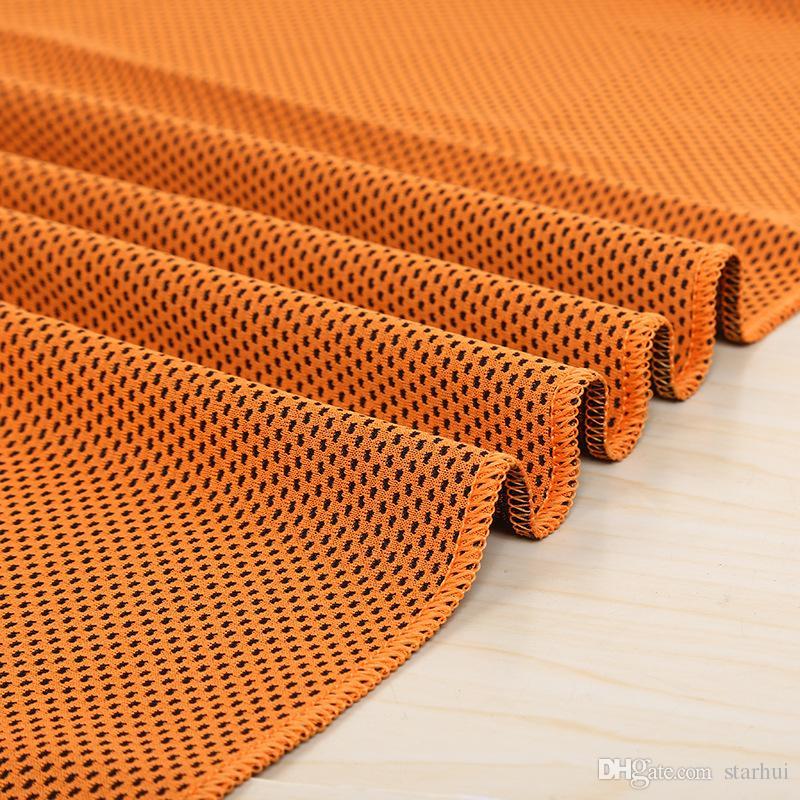 88 * 33cm Eis Cold Handtücher Kühlsommer Sonnenkassette Sportübung Kühle Schnell Trockene weiche atmungsaktive Handtuch WX-T13