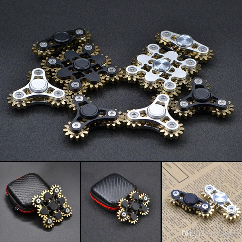 Gear Hand Spinner Nine Teeth Metal Fid Spinner Steampunk Linkage