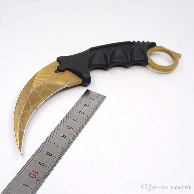 CS GO Karambit Knife Plastic Fixed Blade Knifes Counter Strike Tactical Fighting Claw Knives Survival Camping EDC Cosplay Tools