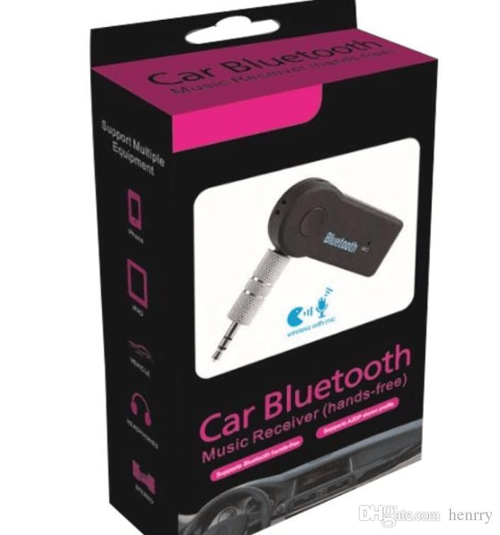 سيارة بلوتوث كيت AUX 3.5MM استقبال الموسيقى الصوت عدة السيارة MP3 بلوتوث MIC محول دونغل 3.0 A2DP الأيدي صندوق البيع بالتجزئة EMS