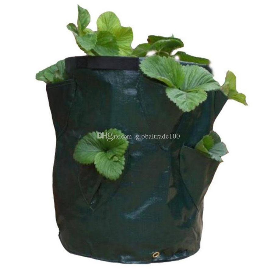 Strawberry Planting PE Bags Family Garden Balcony Garden Pots of Organic Vegetables Potatoes Planters Growing Bag