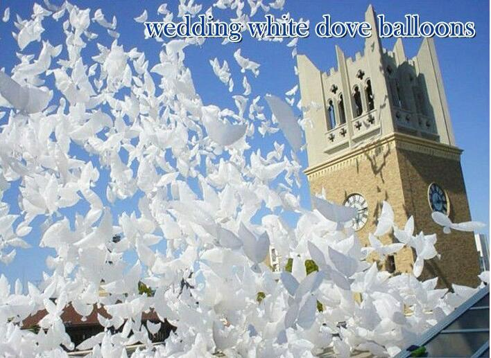 Inflatable Wedding Helium Biodegradable White Dove Balloons for Wedding Party Decoration Doves Shaped Bio Balloons 104*40CM