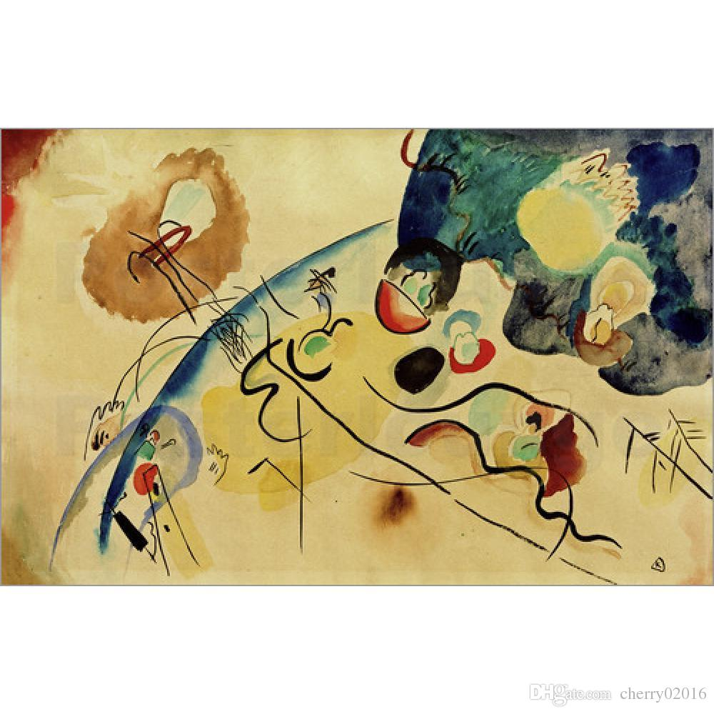 Abstract Modern Art Untitled Composition with Trojka Theme-Wassily ...