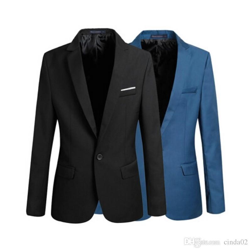 bd2e1dc22d30b Casual Blazer Men Fashion Plus Size Business Slim Fit Jacket Suits ...