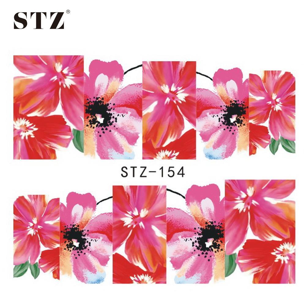 Wholesale Stz Nail Art New Water Transfer Designs Full Lotus Bloom ...