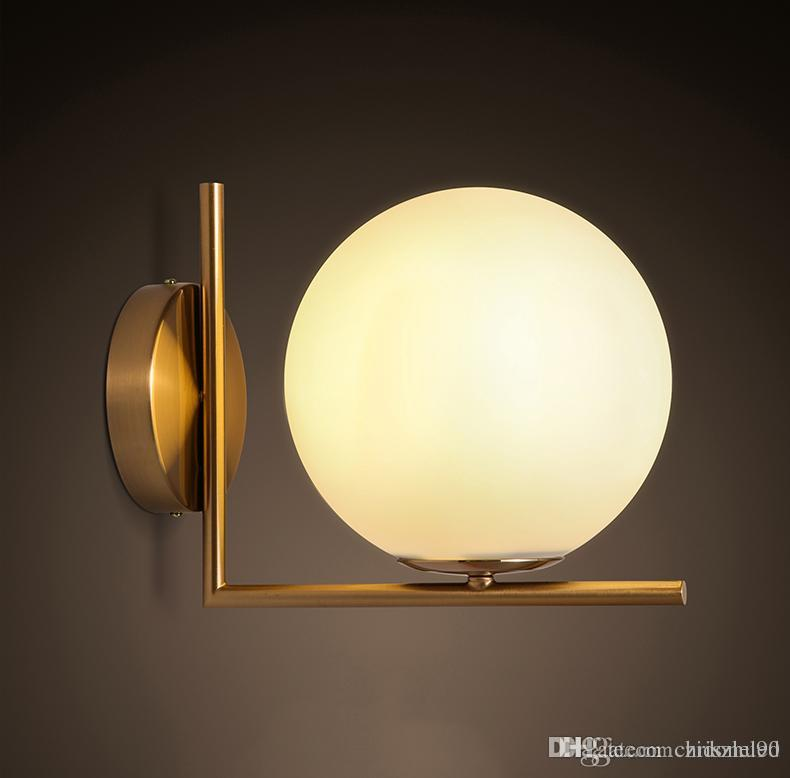 Discount North Europe Style Led Glass Globe Wall Light Wall Sconces ...