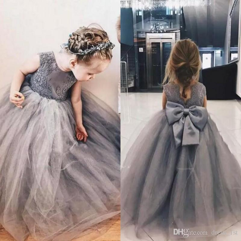 Lovely 2017 grey lace appliqued tulle princess flower girl dresses lovely 2017 grey lace appliqued tulle princess flower girl dresses for weddings kids ball gowns birthday party dress bow sash en8098 light blue flower girl mightylinksfo