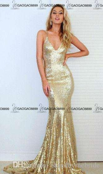 2017 Gorgeous Mermaid Long Sparkly Rose Gold Cheap Evening Party Dresses Spaghetti Backless Shiny Sequins Fishtail Party Cocktail Gowns