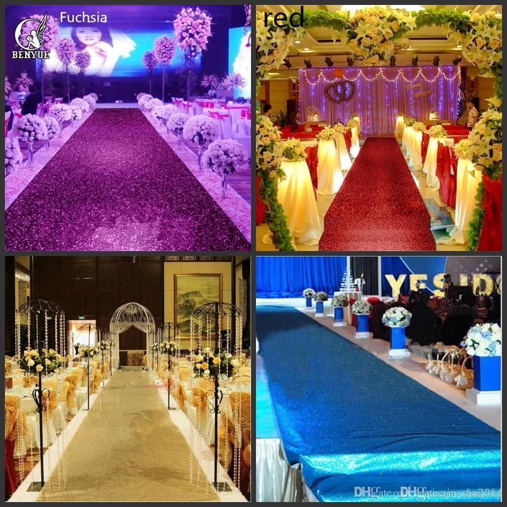 Fashion Wedding Decor Pearlescent Carpet 14 M Wide Shiny Aisle