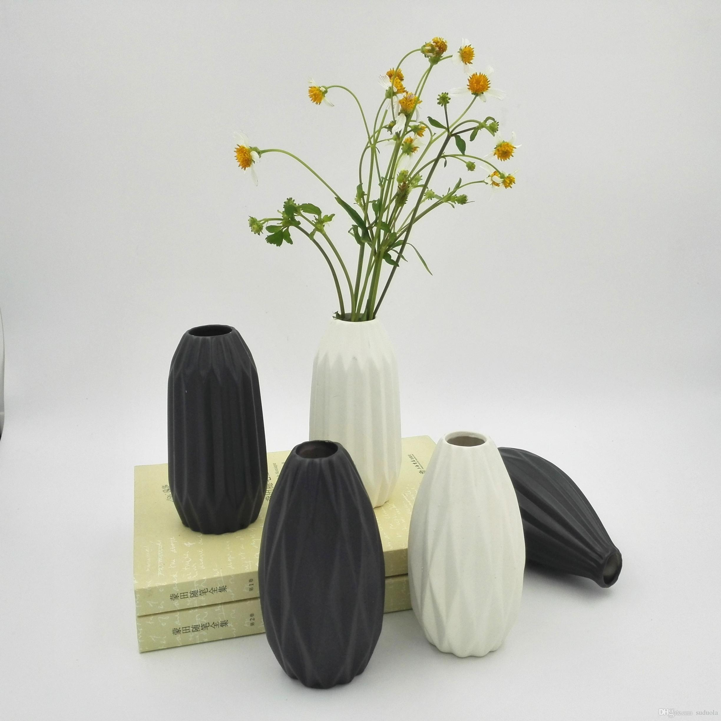 Home garden ceramic pottery planter flower pot green plant office home garden ceramic pottery planter flower pot green plant office mini black white vase mightylinksfo