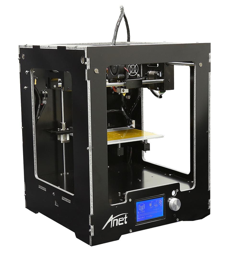 Actualice la impresora 3D de escritorio Integrado Tamaño de la caja Tamaño de impresión grande Marco de aluminio LCD 16G Tarjeta TF para regalo Filamento opcional