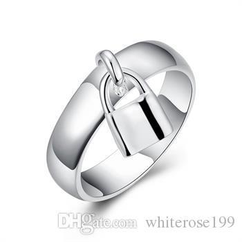 Partihandel - Retail Lägsta pris Julklapp, Gratis frakt, Ny 925 Silver Fashion Ring Yr014