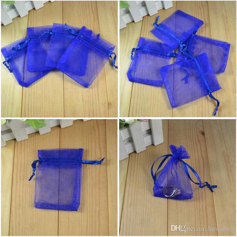 Organza biżuteria worek prezent torby na wesele 7 * 9 cm 10 * 12 cm 11 * 16 cm 13 * 18 cm 15 * 20 cm 17 * 23 cm 20 * 30 cm hurtownie darmowa wysyłka 0010 pakunek