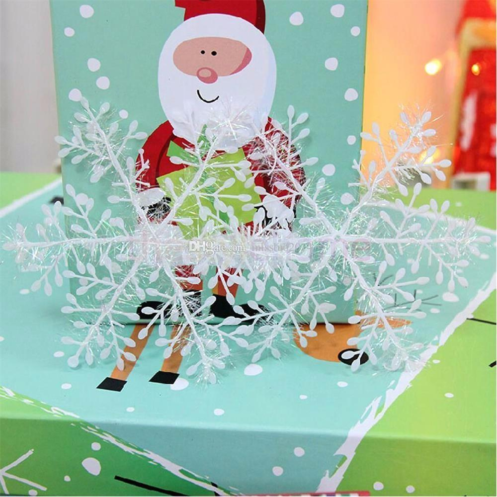 Hot selling Snowflake Christmas supplies Size 11x11 cm Christmas decoration white Christmas hanging decoration DHL Fast Shipping