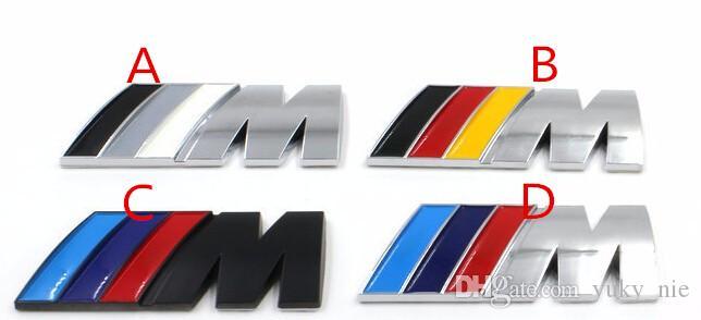 Autocollants De Voiture /// M power M Logo Logo Emblème Badge Stickers Pour BMW E30 E36 E46 E90 E39 E60 E38 Z3 Z4 M3 X3 X3 X4 X5