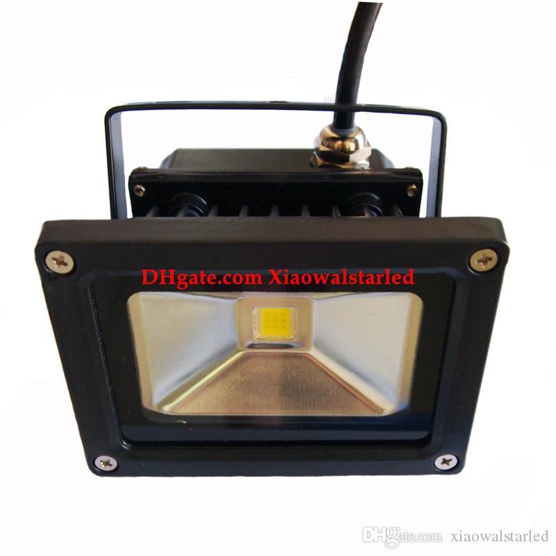 Fabbrica diretta Led Flood Light 10W nero bianco grigio Paesaggio Proiettori Outdoor led luce di inondazione colore rgb led 10w lampada 100lm / w
