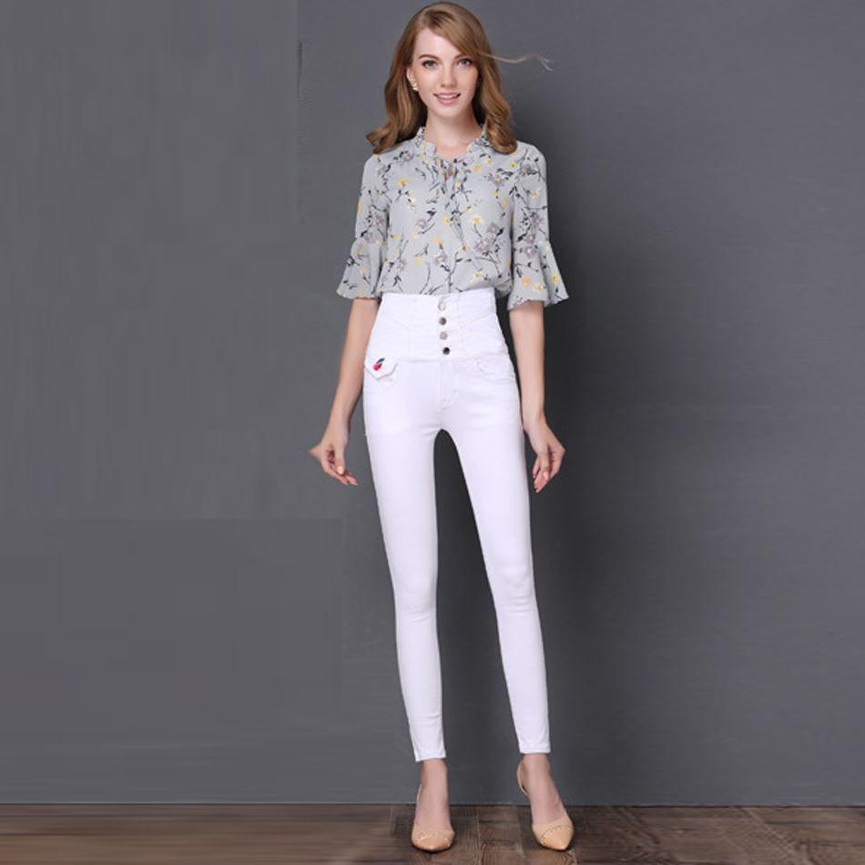 Acheter Mode Élastique Skinny Jeans Femmes Taille Haute Jeans Jeunes Filles  Mince Crayon Pantalons Style Cow Boy Mignon Jeans Sexy Fille Porter De   92.44 Du ... 696bef87181d