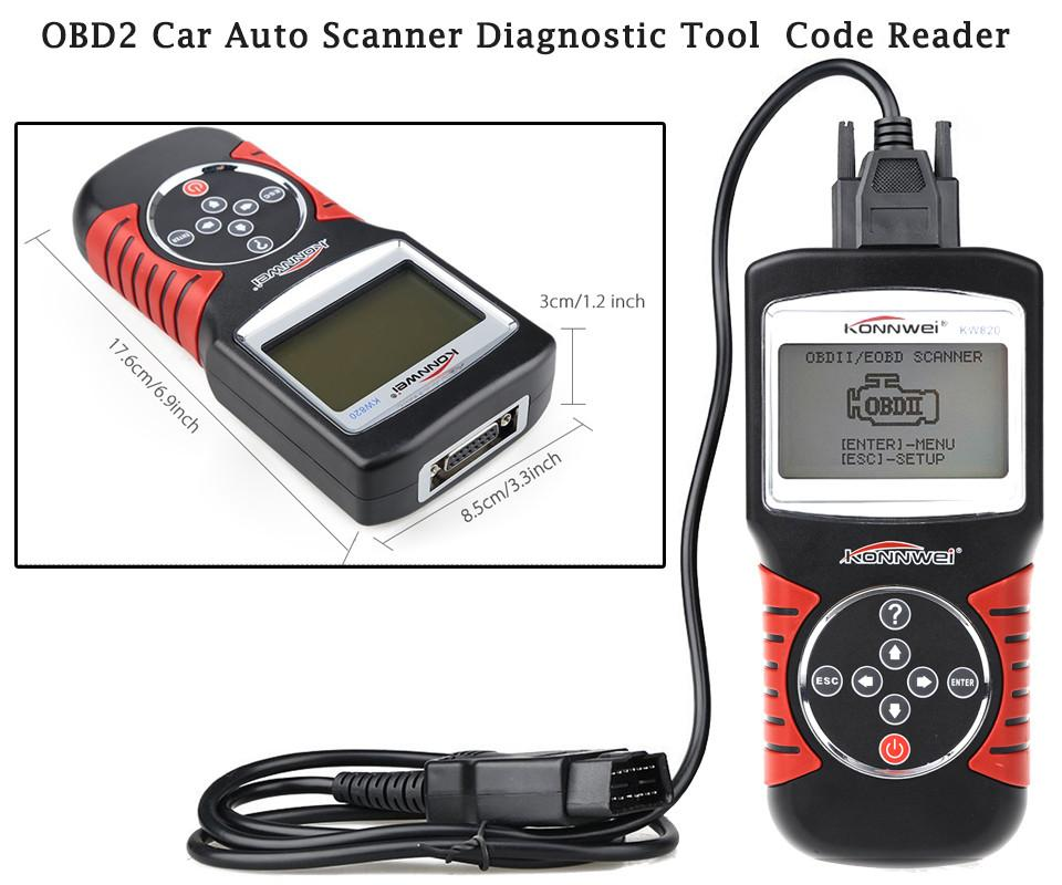 KONNWEI KW820 OBD2/ EOBD Car Diagnostics Auto Scanner Diagnostic Tool Automotive Fault Code Reader Car detector Automotive Tool