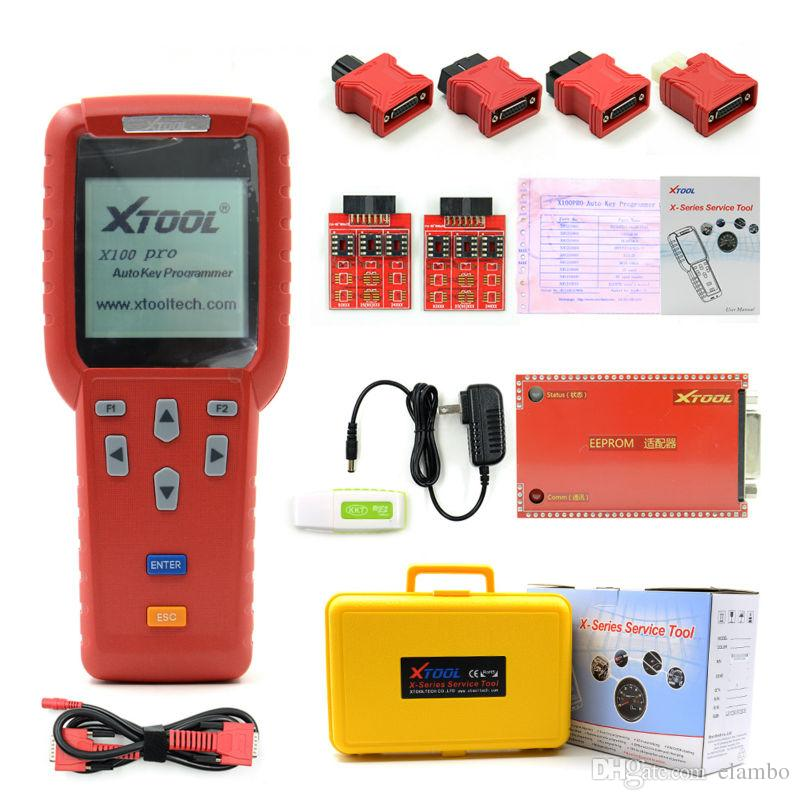 Original OBDSTAR X-100 x100 PRO Auto Key Programmer C+D+E including EEPROM adapter for IMMO + Odometer + OBD + EEPROM DHL free