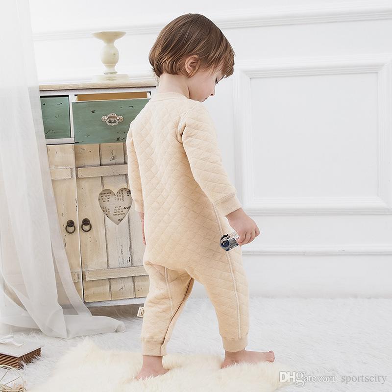 2017 neue ankunft kinder kleidung winter baumwolle wolle männer farbe baumwolle langärmelige klettern einreiher baby verbunden overall