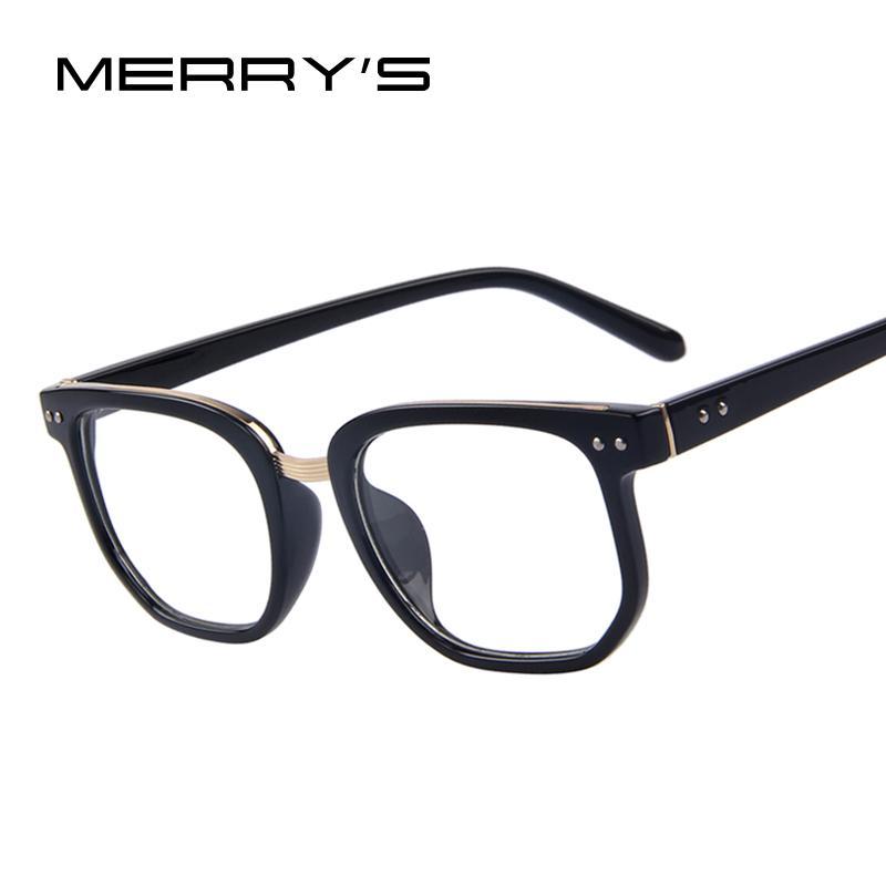 MERRY\'S Brand Design Computer Eye Glasses Men Rivet Frames Male ...