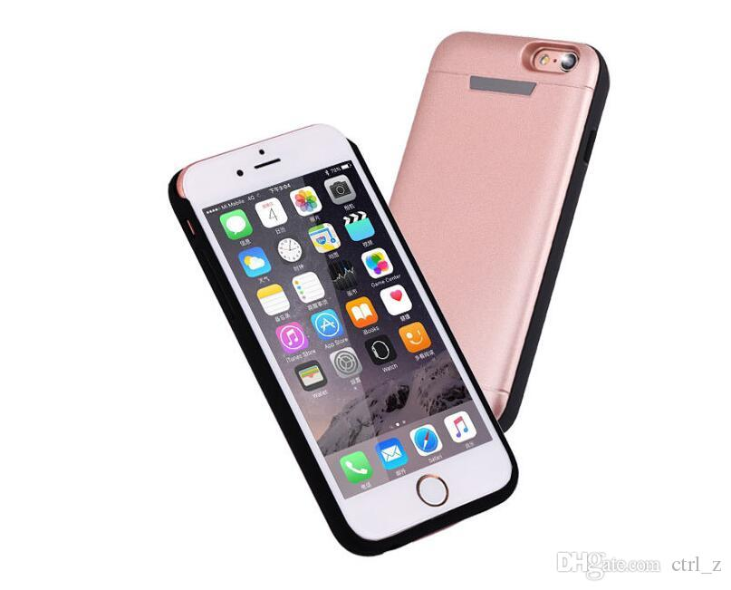 Battery Case for iPhone 6 7 Armor Case Power Bank Back Cover for iPhone 7 Plus Battery Backup big High Capacity 5200mAh 7500mAh