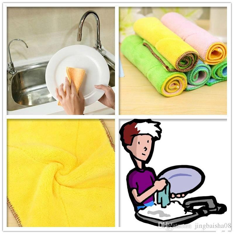 300 قطع عالية الكفاءة مكافحة الشحوم اللون صحن القماش ستوكات غسل منشفة ماجيك مطبخ تنظيف مسح الخرق بالجملة
