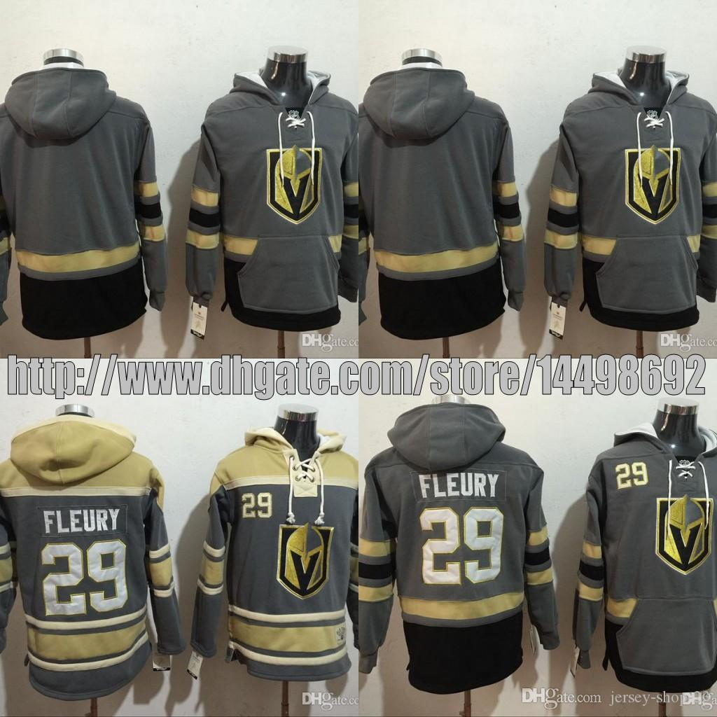 88dfc0420 2019 2017 2018 New Season Team  29 Marc Andre Fleury Hockey Hoodie Vegas  Golden Knights Hoodie High Quality Stiched Sweater Jersey From Jersey Shop  23