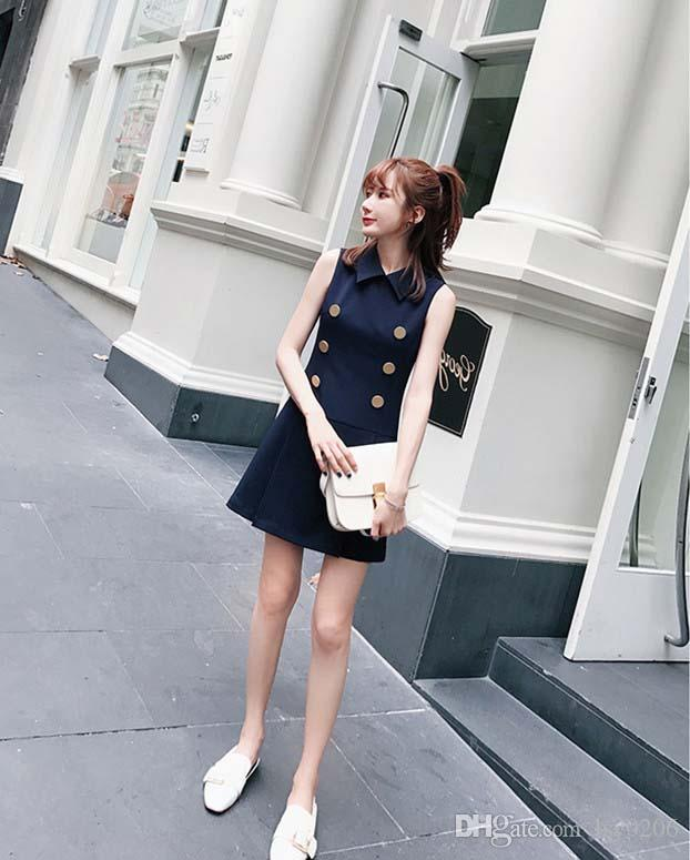2017 Summer Women Fashion Korea Style Sleeveless Mini Dress Purplish