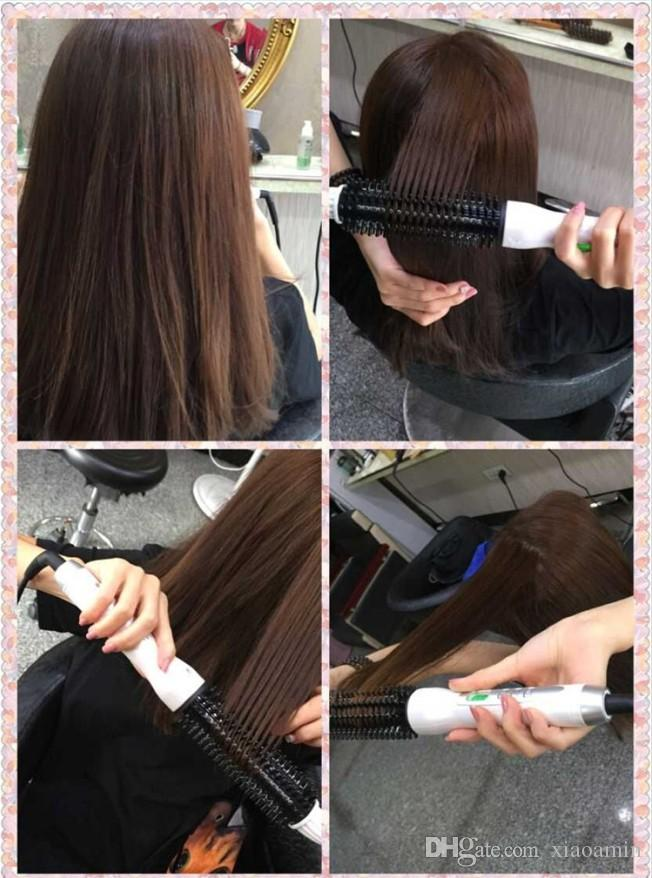 LCD Multifunctional Anti-scald Fast Hair Curler Brush Plug Size Electric Straightening Irons Comb Hair Straightener Comb 110-240V