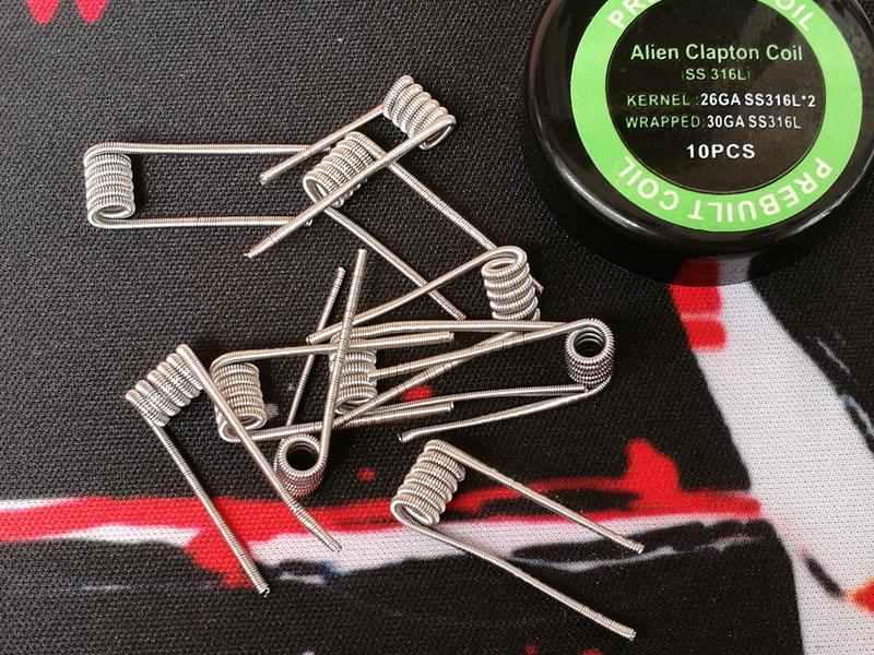 Alien clapton pre-built coil Fuse clapton premade coils wrap prebuilt SS316L heating stainless steel material SS 316L wires for vape rda DHL