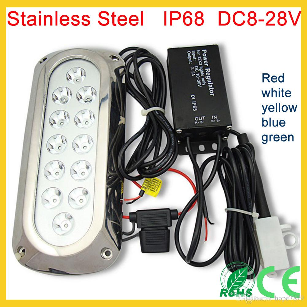 18w 36w 12v Dc Led Marine Lights Boat Dock Lighting Wiring On A Underwater Light Waterproof Ip68