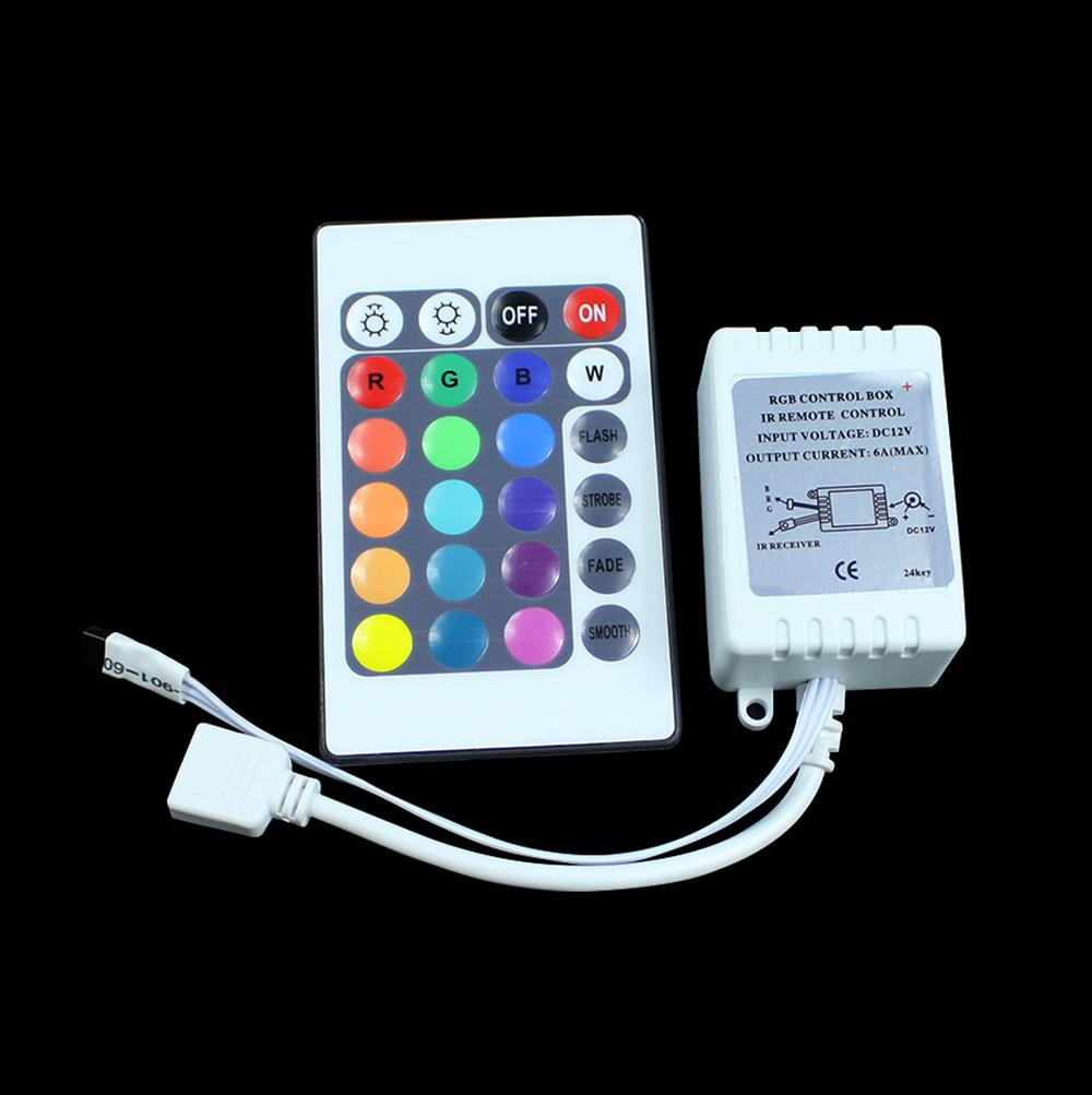 Discount 12v 24 Key Wireless Led Ir Remote Controller For 3528 5050 Rgb Strip With China Light From
