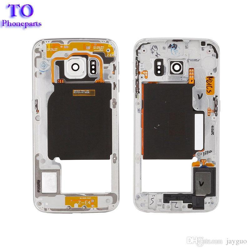 OEM Middle Housing Frame Bezel Replacement Parts For Samsung Galaxy S6 Edge  G925F G925A Middle Chassis Plate Bezel