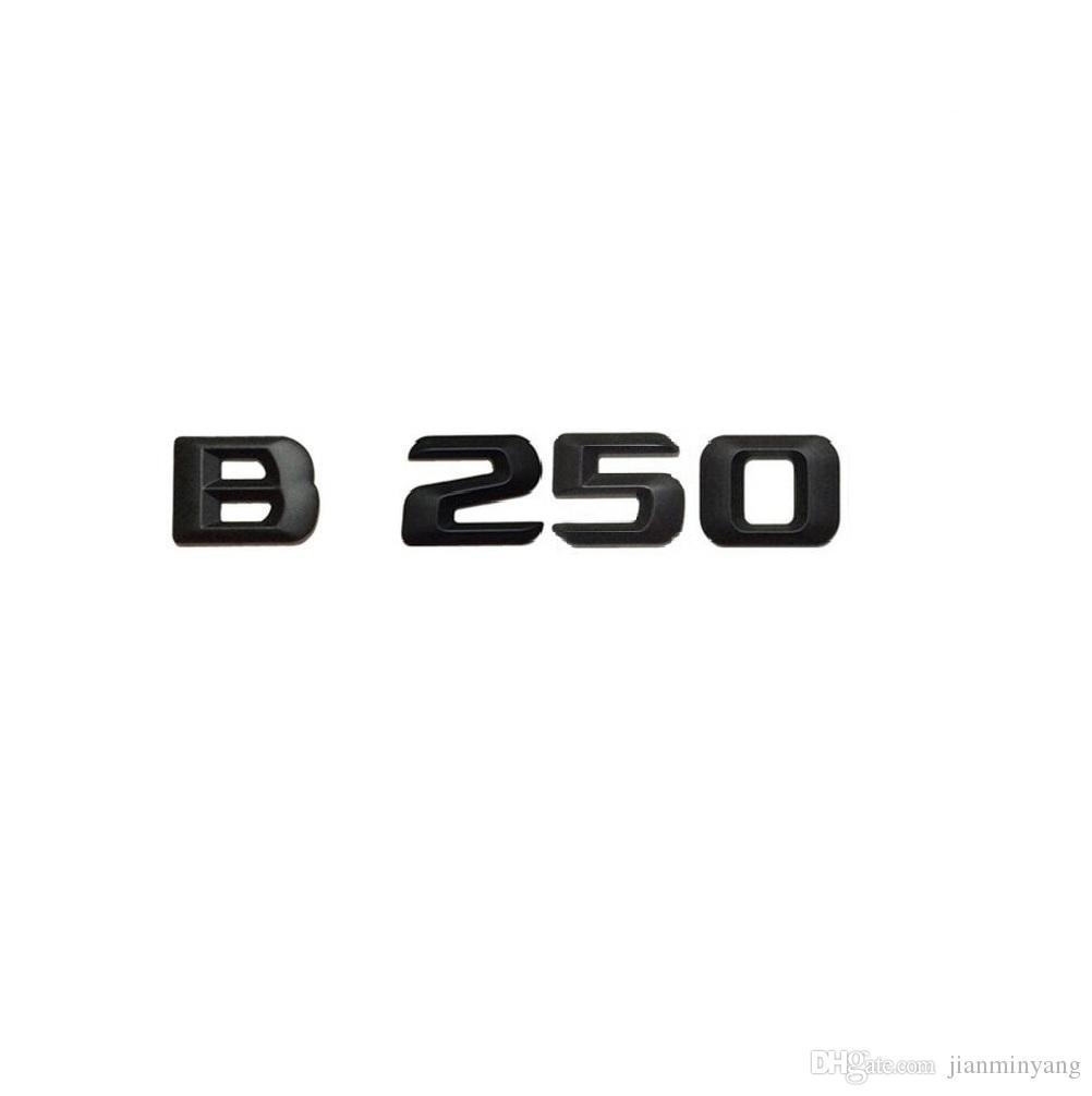 Schwarze Zahl Buchstaben Auto Kofferraum Emblem Aufkleber Für Mercedes Benz B Klasse B250